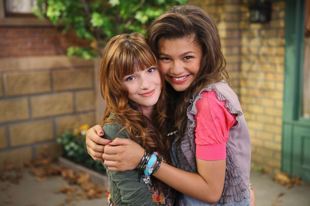 PHOTO: Bella Thorne and Zendaya on the set of Shake It Up!, July 10, 2010.