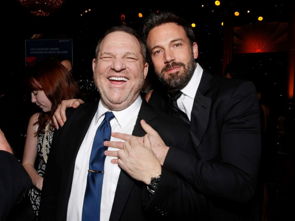 PHOTO: Producers Harvey Weinstein, left, and Ben Affleck attend the 24th Annual Producers Guild (PGA) Awards at the Beverly Hilton Hotel, Jan. 26, 2013, in Beverly Hills, Calif.