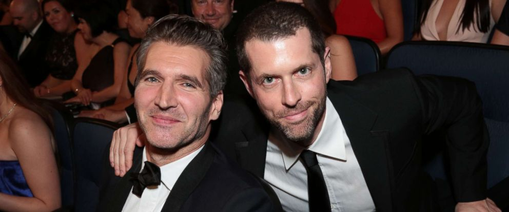 PHOTO: David Benioff and D.B. Weiss attend the 67th Primetime Emmy Awards on Sept. 20, 2015, at the Microsoft Theater in Los Angeles.
