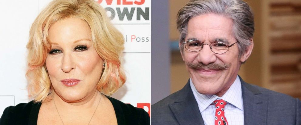 "PHOTO: Bette Midler attends an event on Feb. 8, 2016, in Beverly Hills, Calif.| Geraldo Rivera appears on ""Good Morning America"" on March 3, 2016."