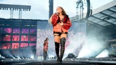"PHOTO: Beyonce performs onstage during the ""On the Run II"" Tour with Jay-Z at Hampden Park, June 9, 2018, in Glasgow, Scotland."