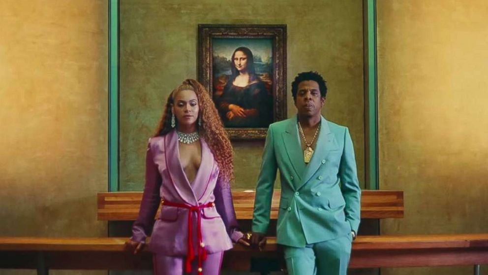 "Beyonce and Jay-Z in first video off the album, ""Ape S**t."""
