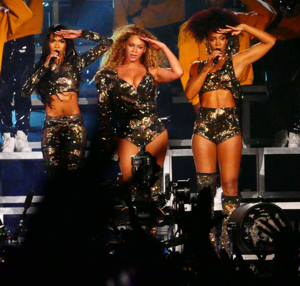 Destinys Child reunite with Beyonce during 2018 Coachella Valley Music And Arts Festival Weekend 1 at the Empire Polo Field in Indio, Calif., April 14, 2018.