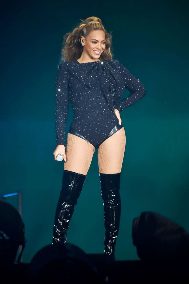 PHOTO: Beyonce performs on stage during the On the Run II Tour with Jay-Z at Hampden Park, June 9, 2018, in Glasgow, Scotland.