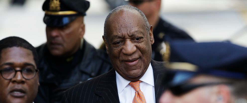 PHOTO: Bill Cosby arrives for his sexual assault trial, April 10, 2018, at the Montgomery County Courthouse in Norristown, Pa.