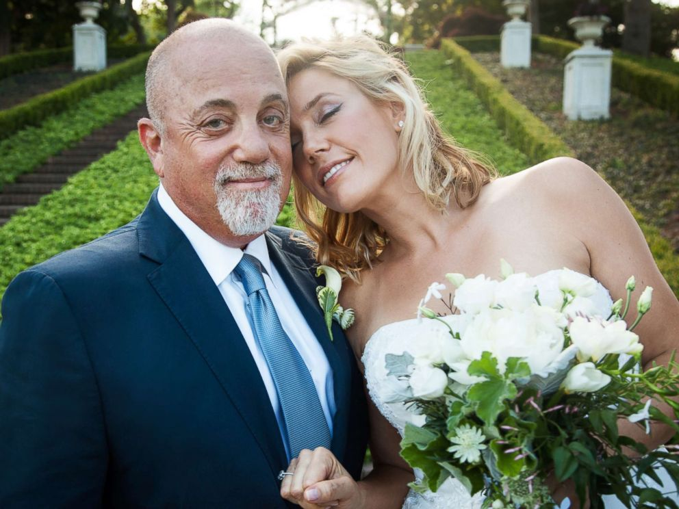 PHOTO: Billy Joel and Alexis Roderick pose for a photo on their wedding day, July 4, 2015 in Long Island, New York.