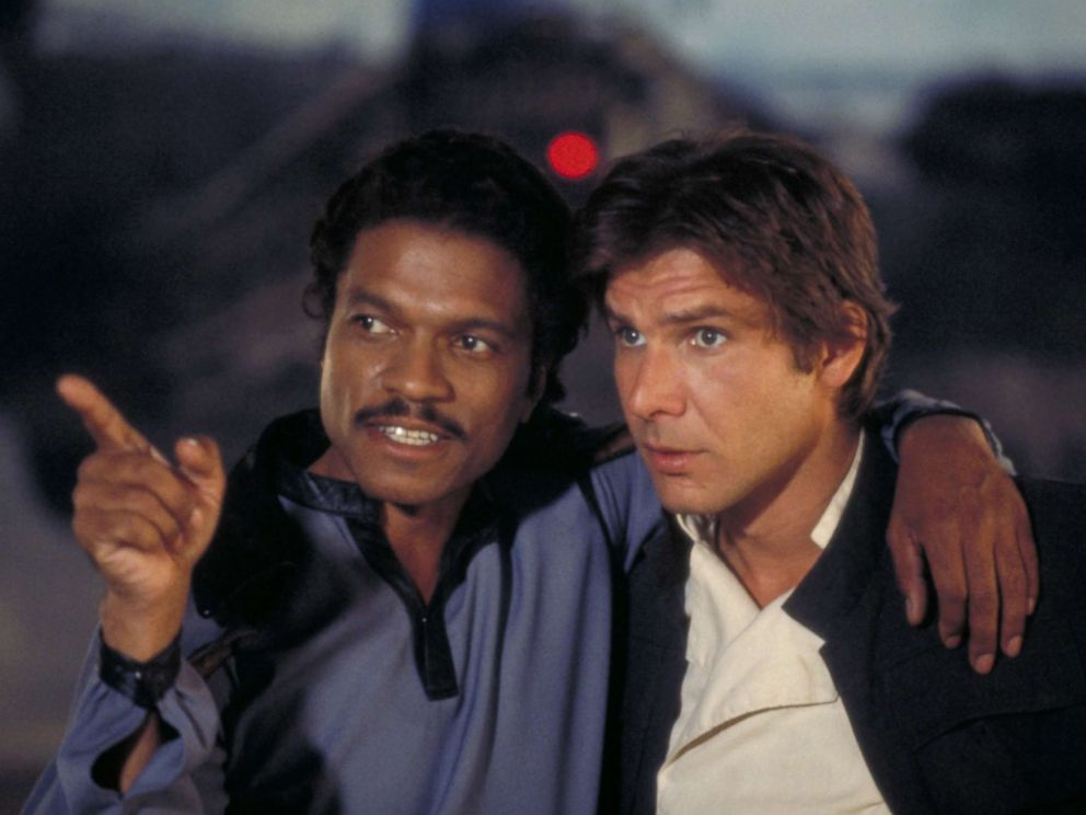 PHOTO: Billy Dee Williams and Harrison Ford appear in Star Wars: Episode V - The Empire Strikes Back, in 1980.