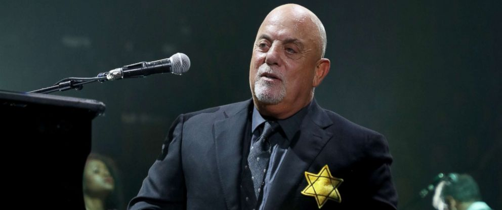PHOTO: Billy Joel wears a jacket with the Star of David during the encore of his 43rd sold out show at Madison Square Garden, Aug. 21, 2017, in New York City.