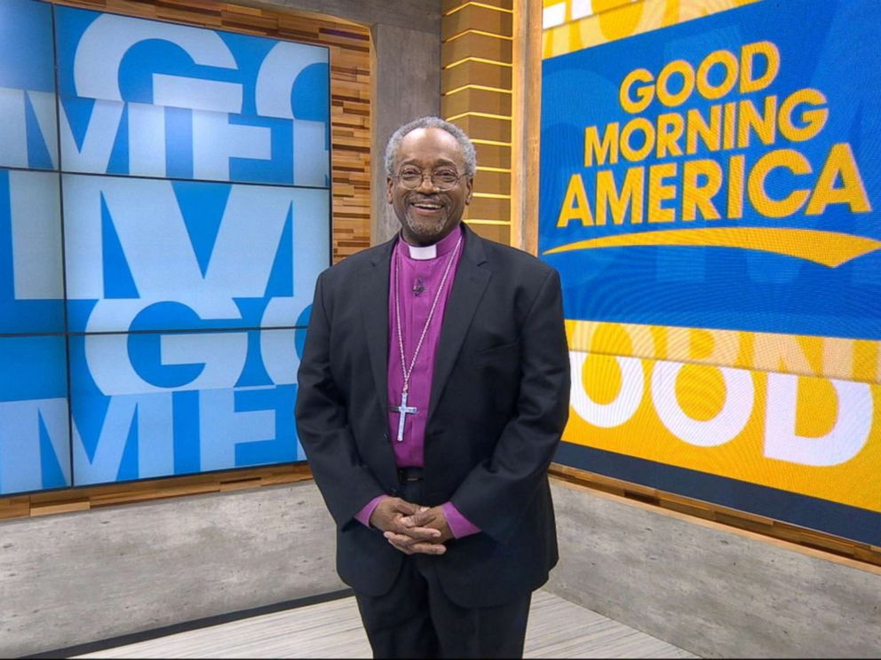 PHOTO: The Most Rev. Michael Bruce Curry speaks out on GMA about delivering the sermon at Prince Harry and Meghan Markles royal wedding.