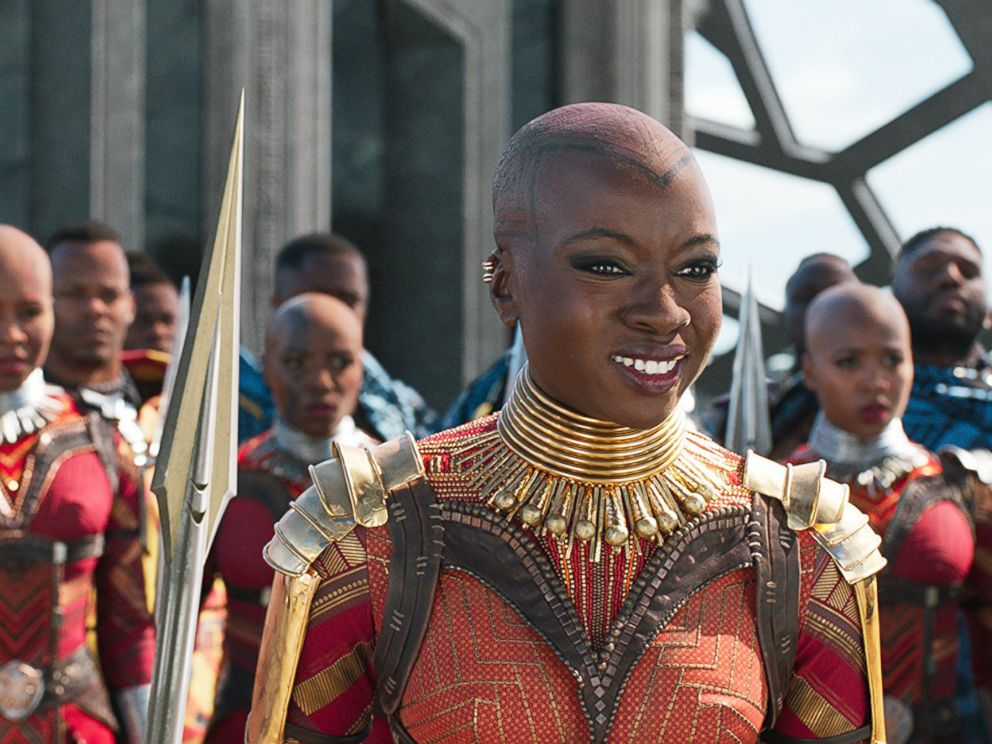 PHOTO: Florence Kasumba and Danai Gurira in a scene from Black Panther.