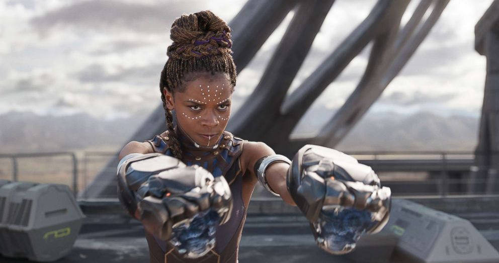 """Letitia Wright in a scene from """"Black Panther."""""""
