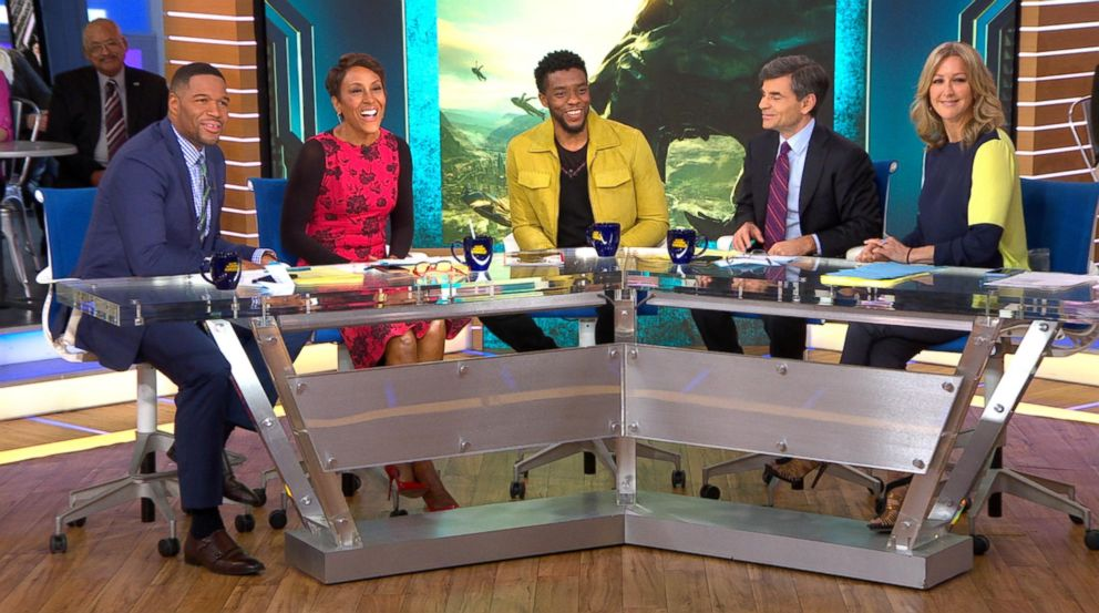 PHOTO: Chadwick Boseman opens up about Black Panther live on GMA, Feb. 12, 2018.