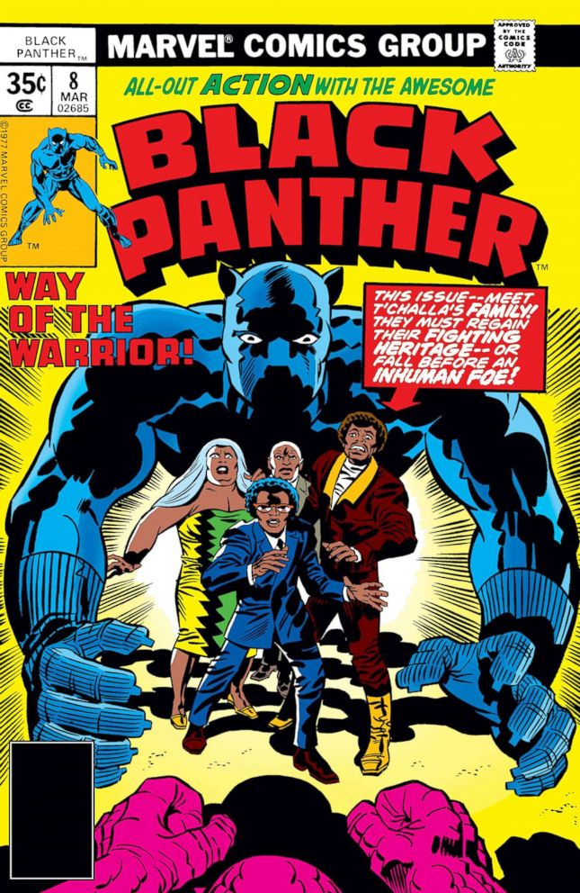 27e98e1ca5c PHOTO: The cover of a 1977 edition of the comic book Black Panther is  pictured