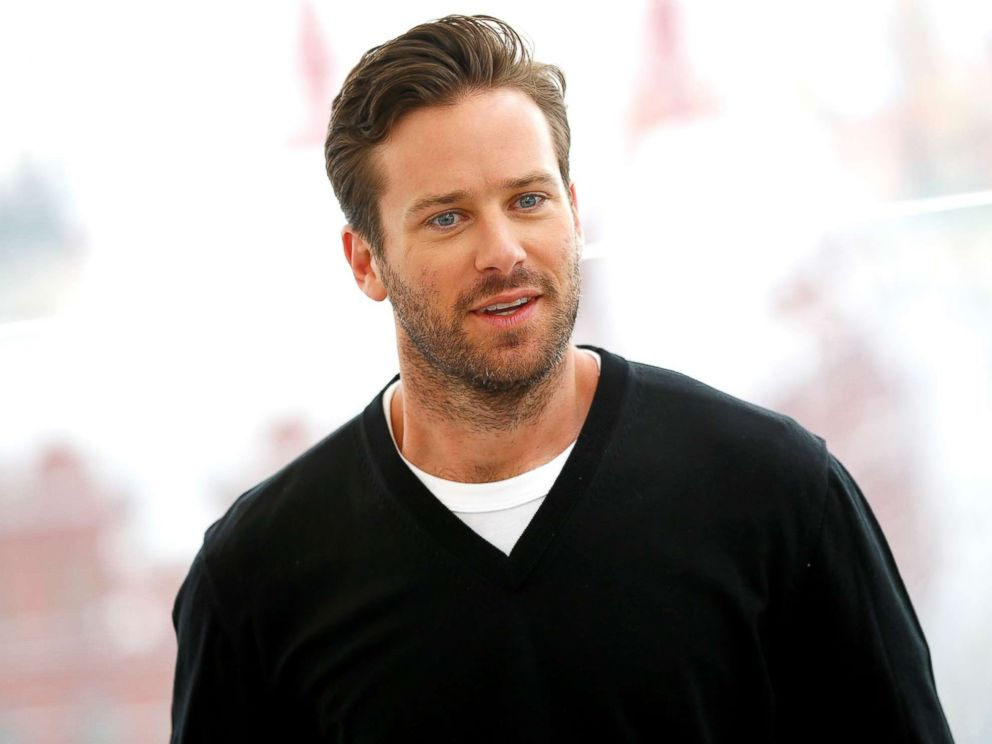 PHOTO:Actor Armie Hammer poses during the photocall of Free Fire directed by Ben Wheatley, at Ritz-Carlton Hotel in Moscow, Russia, on April 10, 2017.