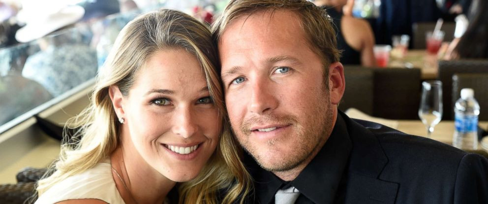 PHOTO:Morgan Beck and Bode Miller attend The 142nd Kentucky Derby at Churchill Downs on May 7, 2016, in Louisville, Ky.