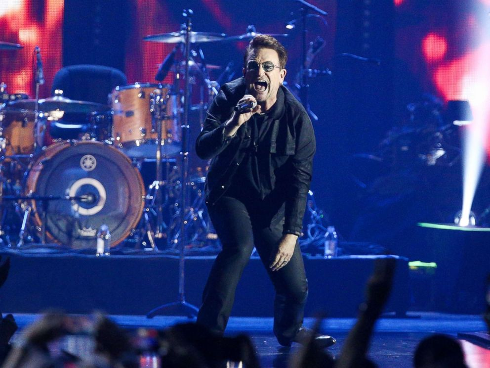 PHOTO: Bono of the music group U2 performs at the 2016 iHeartRadio Music Festival, Sept. 23, 2016, in Las Vegas.