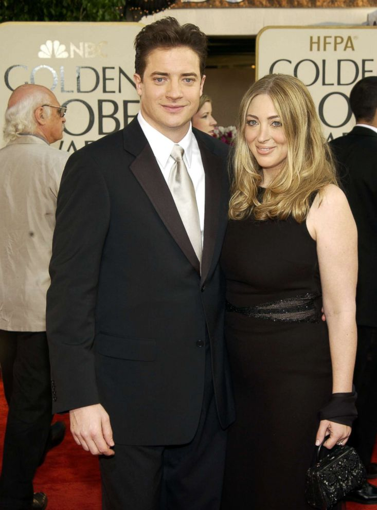 PHOTO: Brendan Fraser and Afton Smith arrive for the 60th annual Golden Globe awards at the Beverly Hilton Hotel, Jan. 19, 2003, in Beverly Hills, Calif.