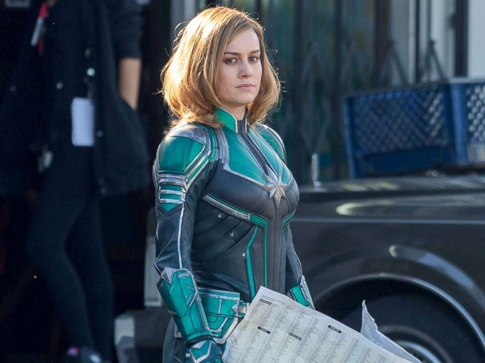 PHOTO: Two years after she was cast as Carol Danvers, Brie Larson suits up as Captain Marvel!, Jan. 26, 2018.