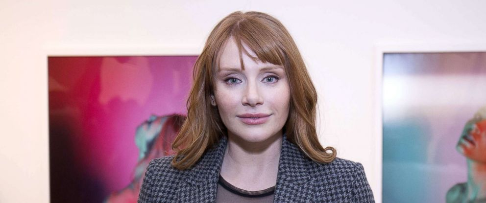 """PHOTO: Bryce Dallas Howard attends the """"Anton Yelchin: Provocative Beauty"""" Opening Night Exhibition at De Buck Gallery, Dec. 13, 2017, in New York."""