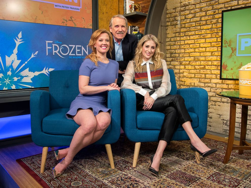 PHOTO: Caissie Levy and Patti Murin appear on Popcorn With Peter Travers at ABC News studios, Jan. 31, 2018, in New York City.