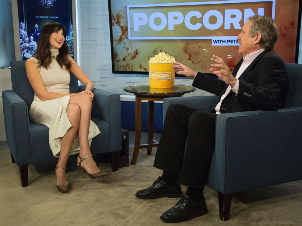 PHOTO: Caitriona Balfe appears on Popcorn with Peter Travers at ABC News studios, Sept. 7, 2017, in New York City.