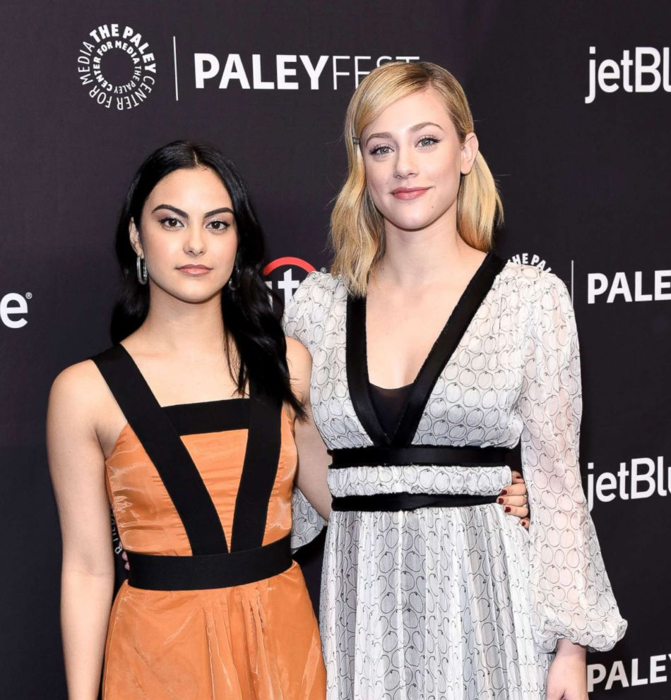 PHOTO: Camila Mendes and Lili Reinhart attend PaleyFest Los Angeles 2018 Riverdale at Dolby Theatre, March 25, 2018, in Hollywood, Calif.