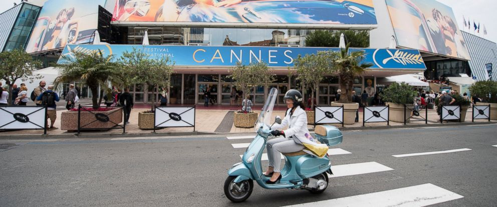 A view of the Palais des Festivals at the 71st international film festival, Cannes, southern France, Monday, May 7, 2018.