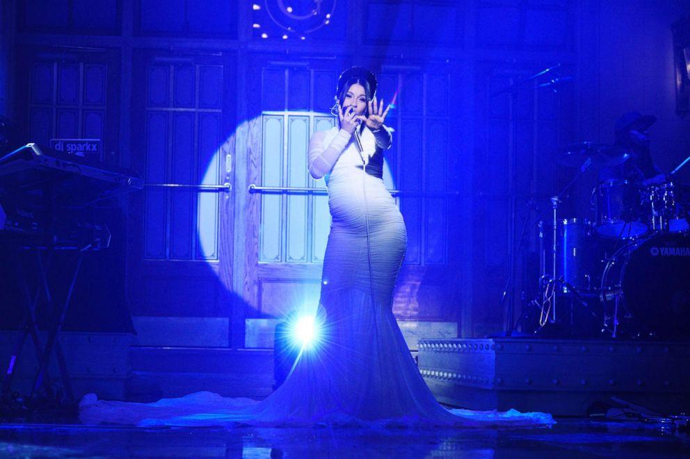 "Cardi B Performs ""Be Careful"" on Saturday Night Live, April 7, 2018."