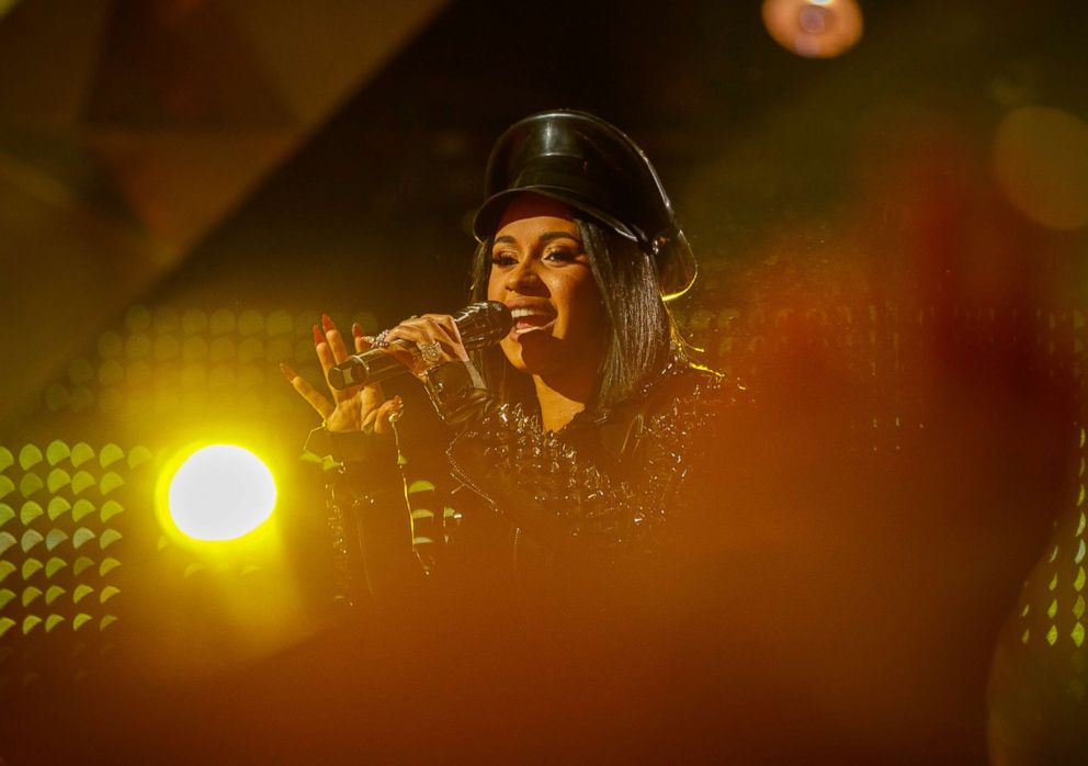 PHOTO: Cardi B performs onstage during the 2018 iHeartRadio Music Awards, March 11, 2018, in Inglewood, Calif.