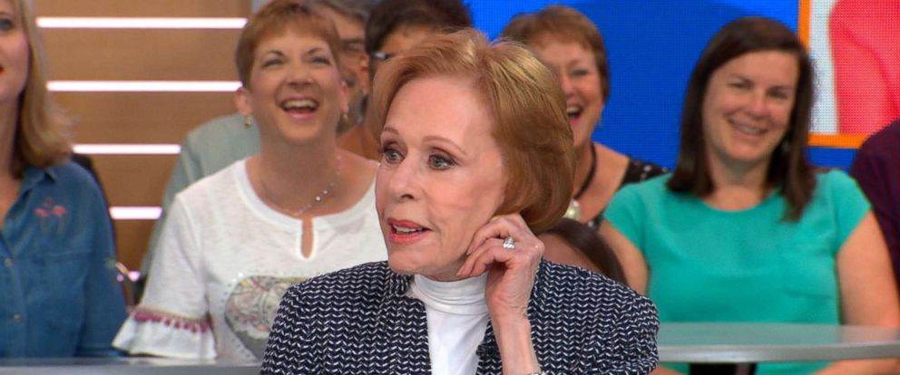 "PHOTO: Carol Burnett opens up about what fans can expect from her new Netflix series, ""A Little Help with Carol Burnett,"" live on ""Good Morning America,"" May 3, 2018."
