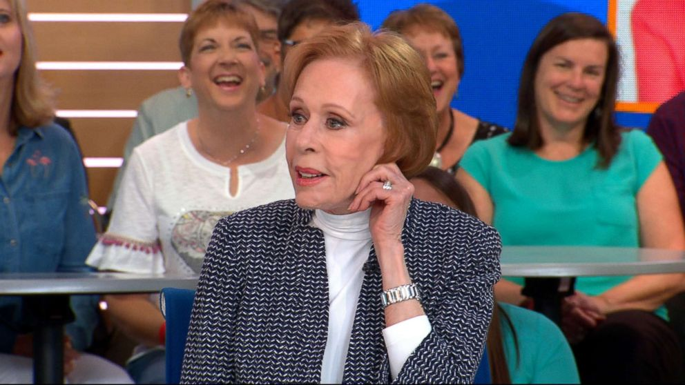 """Carol Burnett opens up about what fans can expect from her new Netflix series, """"A Little Help with Carol Burnett,"""" live on """"Good Morning America,"""" May 3, 2018."""