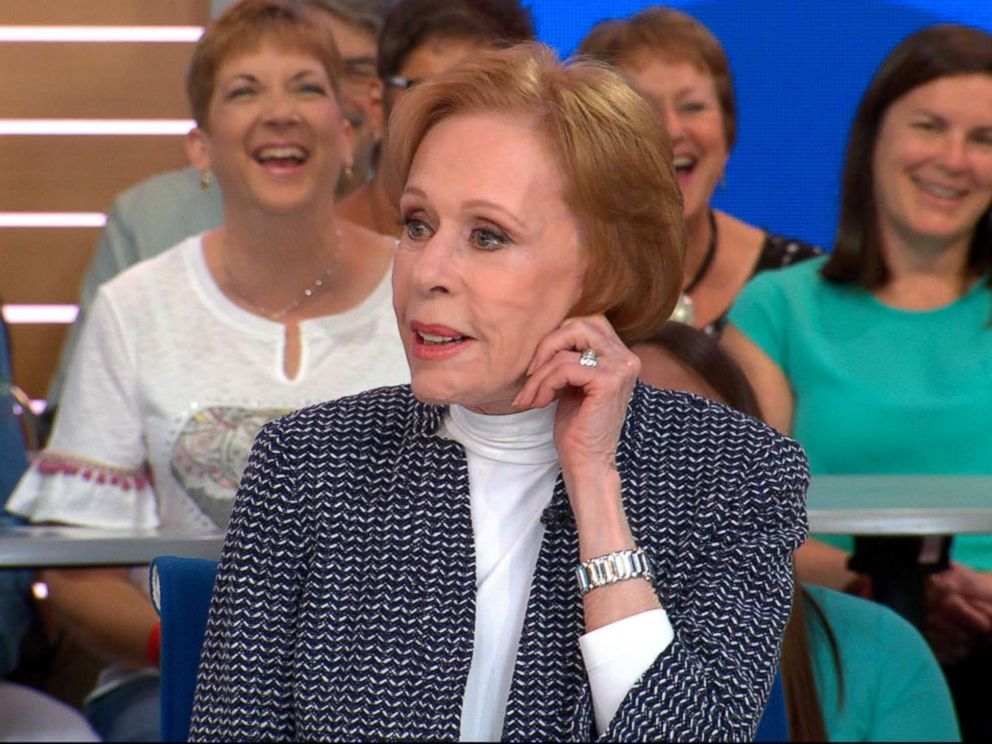 PHOTO: Carol Burnett opens up about what fans can expect from her new Netflix series, A Little Help with Carol Burnett, live on Good Morning America, May 3, 2018.