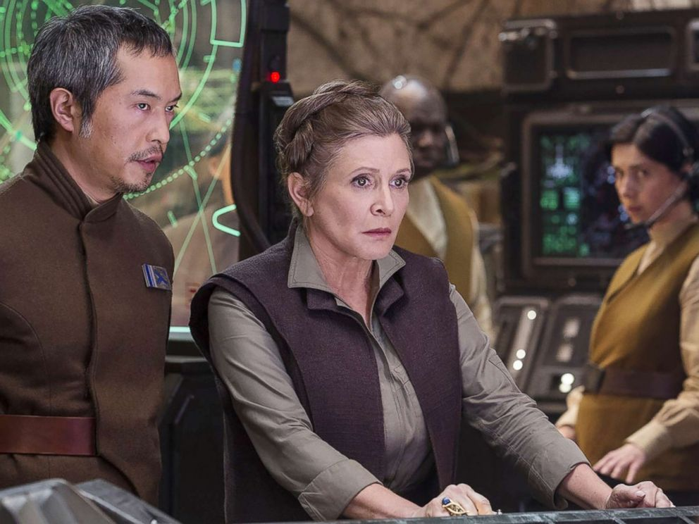 PHOTO: Carrie Fisher and Ken Leung appear in a scene from Star Wars: Episode VII - The Force Awakens.