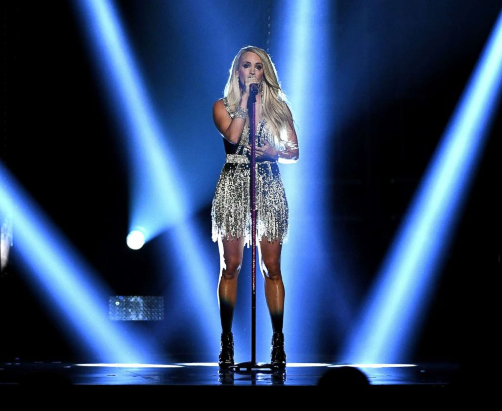 PHOTO: Carrie Underwood performs onstage during the 53rd Academy of Country Music Awards at MGM Grand Garden Arena, April 15, 2018, in Las Vegas.