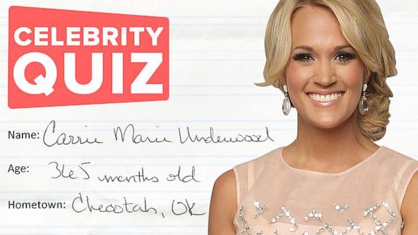 Celebrity Quiz- Carrie Underwood
