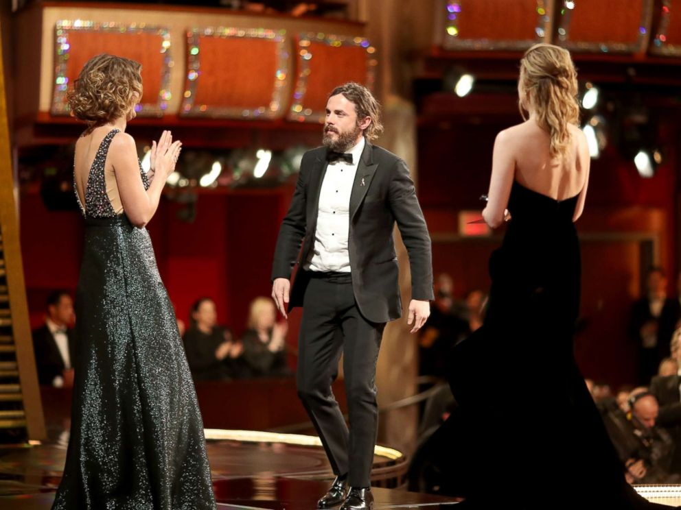 PHOTO: Casey Affleck accepts the Best Actor award for Manchester by the Sea from actor Brie Larson onstage during the 89th Annual Academy Awards at Hollywood and Highland Center on Feb. 26, 2017 in Hollywood, Calif.