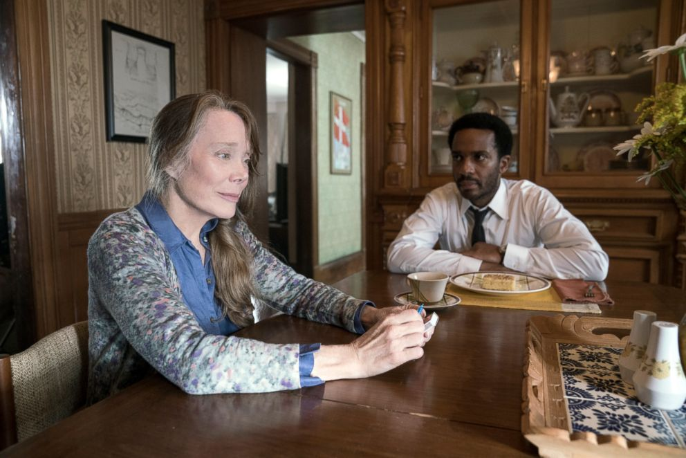 PHOTO: Sissy Spacek, as Ruth Deaver, and Andre Holland, as Henry Deaver, in a scene from Castle Rock.