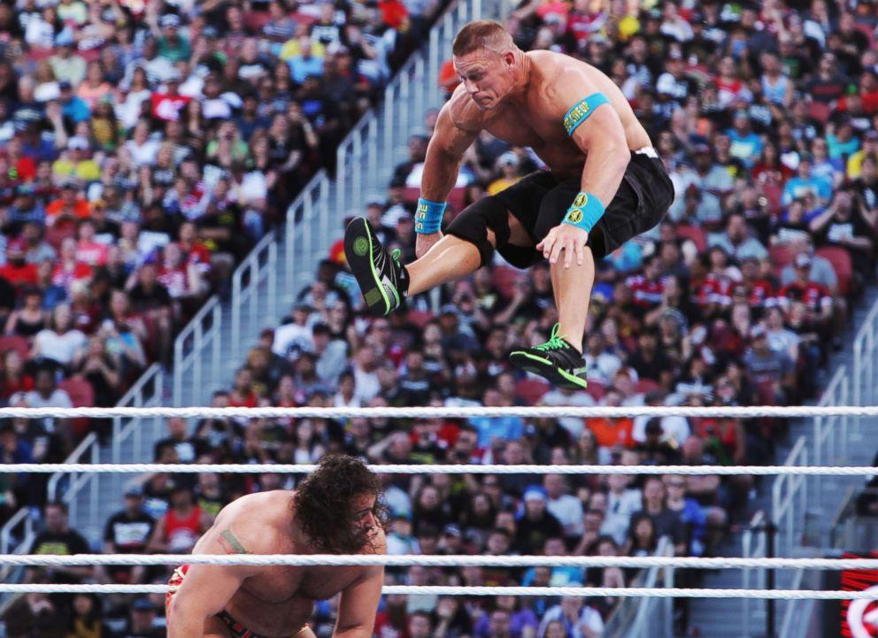 PHOTO: John Cena during WWE WrestleMania 31 at Levis Stadium, Mar 29, 2015, in Santa Clara, Calif.
