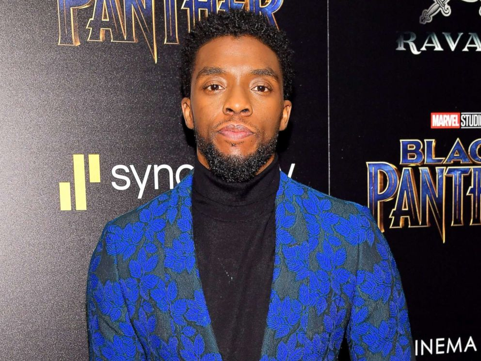 PHOTO: Chadwick Boseman attends the screening of Marvel Studios Black Panther hosted by The Cinema Society, Feb. 13, 2018 in New York City.