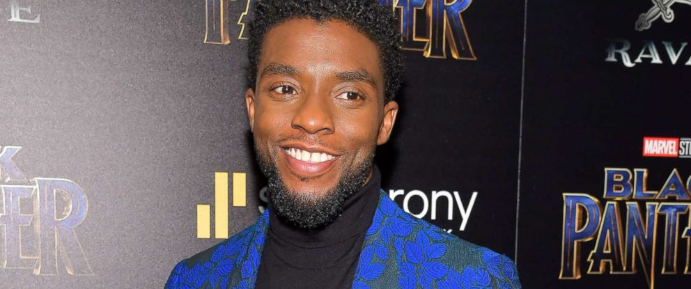"PHOTO: Chadwick Boseman attends the screening of Marvel Studios ""Black Panther"" hosted by The Cinema Society, Feb. 13, 2018 in New York City."