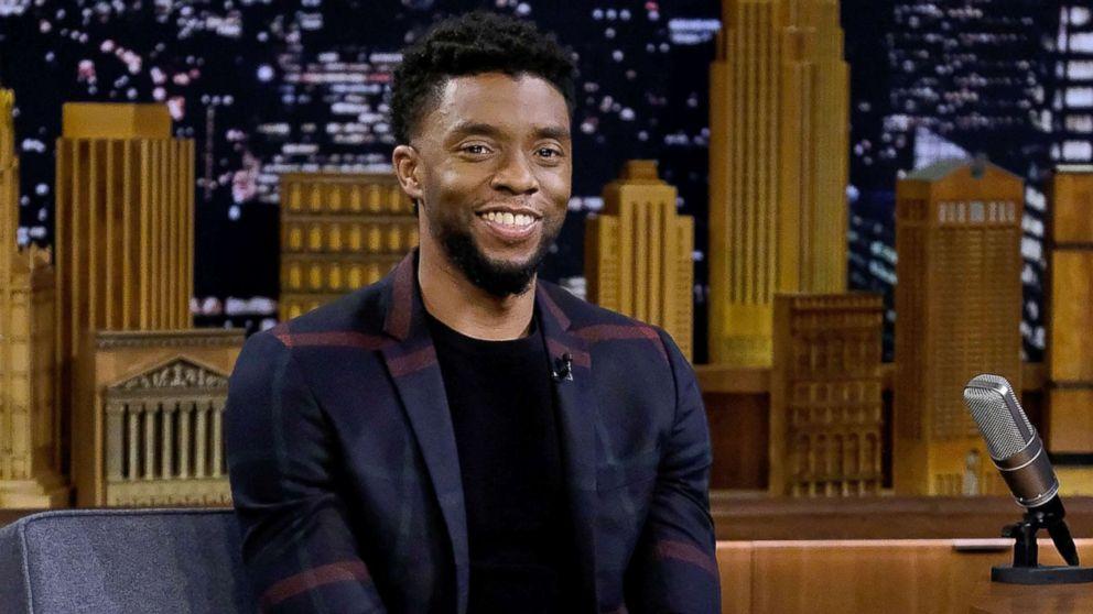 "Chadwick Boseman visits ""The Tonight Show Starring Jimmy Fallon"" at Rockefeller Center, Feb. 28, 2018 in New York City."