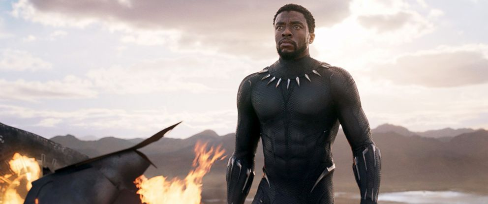 "PHOTO: Chadwick Boseman, as the King TChalla aka Black Panther, in a scene from ""Black Panther."""