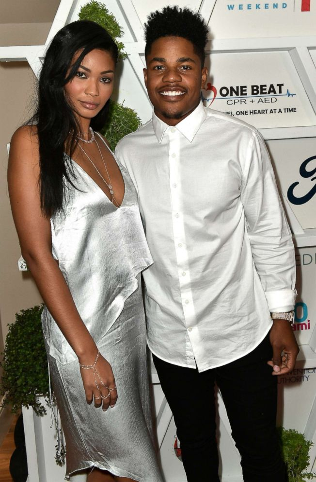 In this file photo, Chanel Iman and Sterling Shepard attend the Gala Benefiting Irie Foundation, June 29, 2017, in Miami Beach, Fla.