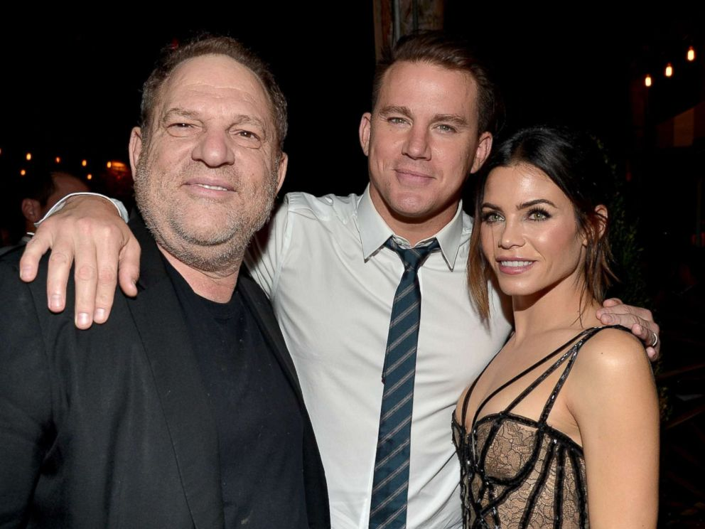 PHOTO: Producer Harvey Weinstein, actors Channing Tatum, and Jenna Dewan attend the world premiere of The Hateful Eight presented by The Weinstein Company on Dec. 7, 2015 in Hollywood, Calif.