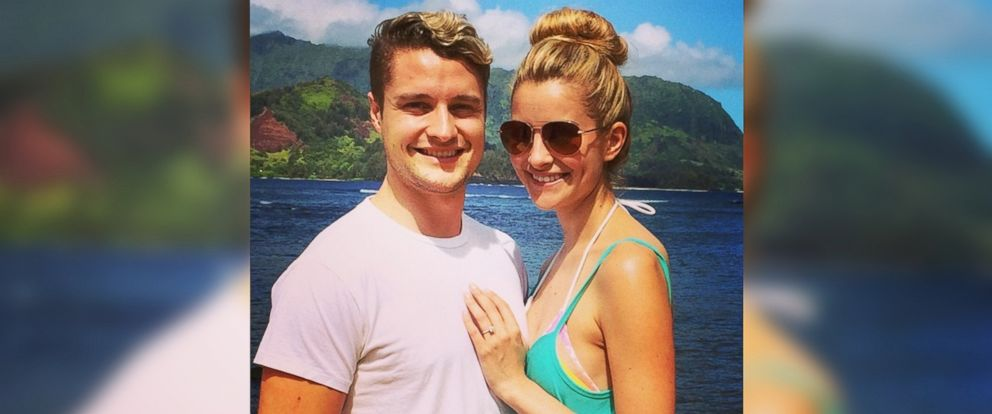 """PHOTO: World champion ice dancer and """"Dancing with the Stars"""" competitor, Charlie White, posted this image of himself with girlfriend Tanith Belbin to Instagram on June 10, 2014."""