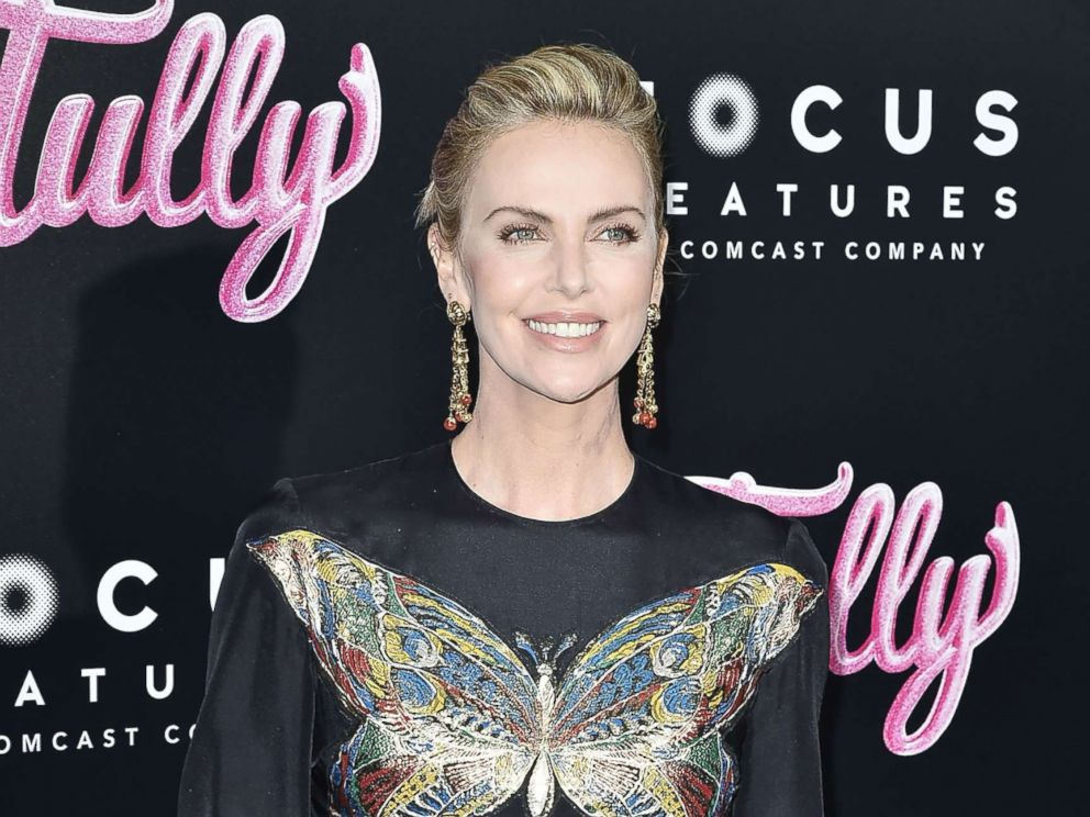 PHOTO: Charlize Theron attends the Tully Los Angeles Premiere, April 18, 2018, in Los Angeles.