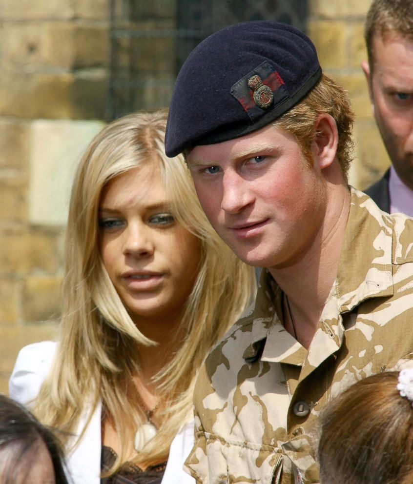 PHOTO: Prince Harry and Chelsy Davy leave a service of remembrance and thanksgiving at the Holy Trinity Church, May 5, 2008, in Windsor, England.
