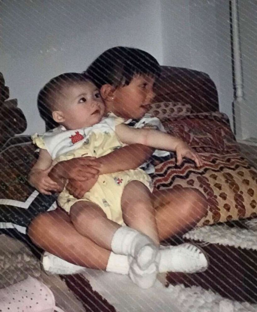 PHOTO: Cheryl Burke of Dancing With the Stars is pictured here with her half-sister, Ina Burke, when they were children.