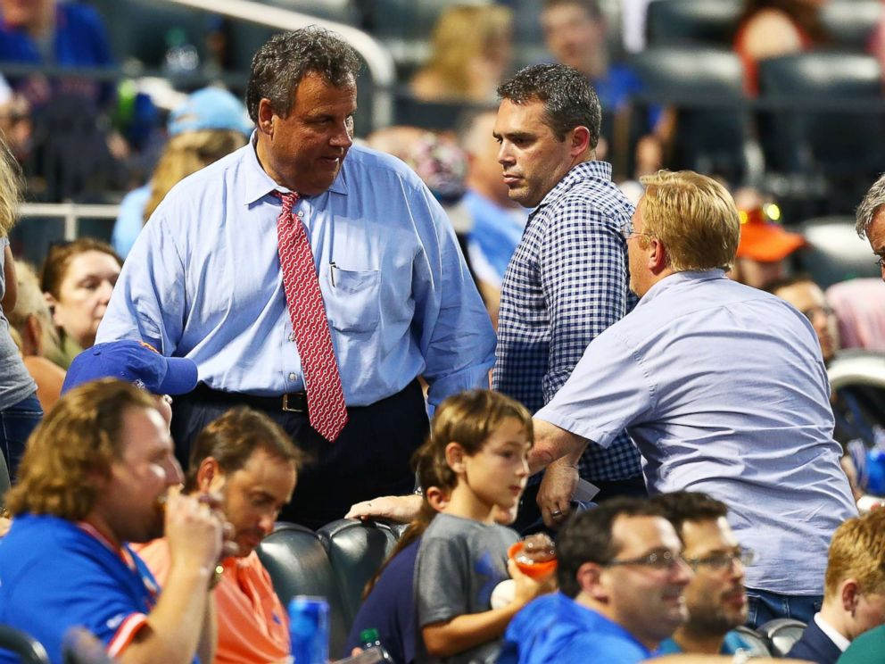 PHOTO: Governor of New Jersey Chris Christie attends the game between the New York Mets and the St. Louis Cardinals at Citi Field, July 18, 2017, Flushing, New York.