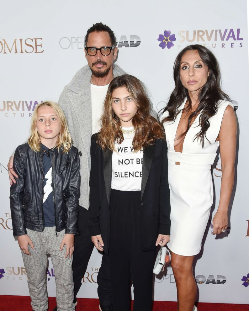 PHOTO: Chris Cornell and family attend the New York Screening of The Promise at The Paris Theatre in New York City, April 18, 2017.